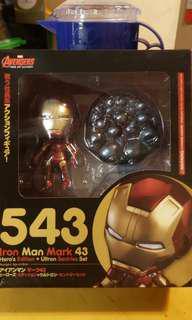 全新 GS 港行 Iron man Q版鋼鐵奇俠 粘土人 543