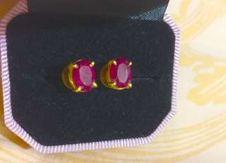 ruby earings