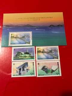 香港郵票+小全張-青馬