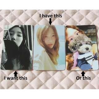 [WTT] Taeyeon Something New Photocard
