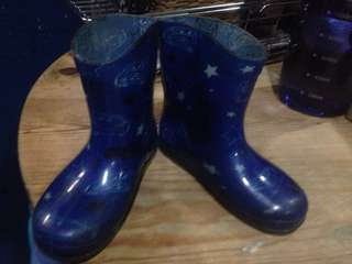 Rainy boots(Lightning Mcqueen themed, blue color)