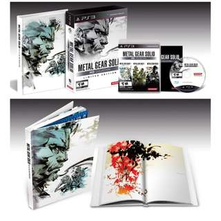 Metal Gear Solid HD Collection Limited Edition PS3 R1
