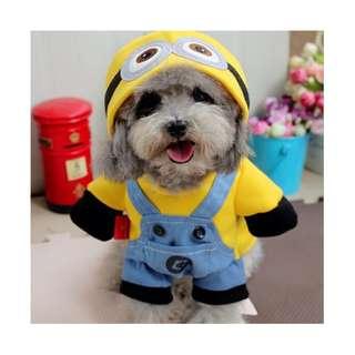 Pet Dog Costumes Minion, Santa Claus, New Year Costume
