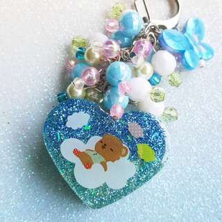 Dreamy Bear Keychain / Bag Charm