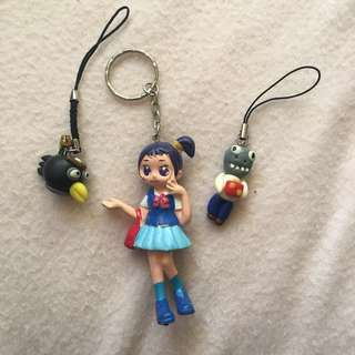 ⭐️Keychains and keyrings girl doll, angry birds, plants vs zombies