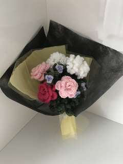 Roses n carnations flower bouquet