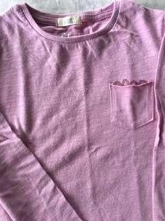 Mango light pink long sleeves
