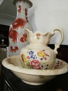 1920's Antique English Pitcher n Bowl