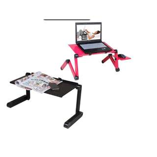 Folding Computer Desk with Cooling Fan / Laptop Folding Desk with Cooling Fan / Multifunctional Laptop Table with Cooling Fan and Mouse Board