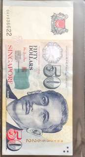 💥336622💥 Portrait Series $50 Note with Repeater Serial Number OAV 336622 in AUNC Condition