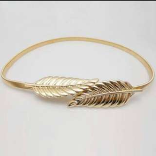belt gold leaf