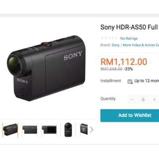 New Sony Action Cam HDR AS50 with stabiliser