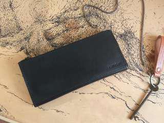 Customize Simple Long Wallet *Half Zipper