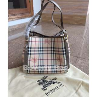 jual tas Burberry Dual Tote LEATHER MIRROR - gold