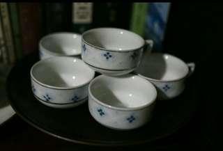 潮州枫溪釉下功夫茶把杯六隻