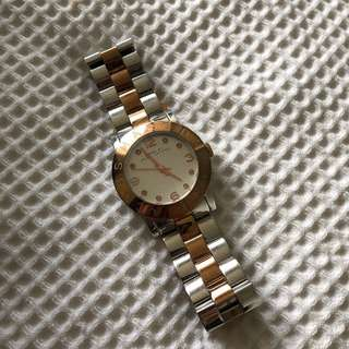 Marc Jacobs silver and rose gold women's watch