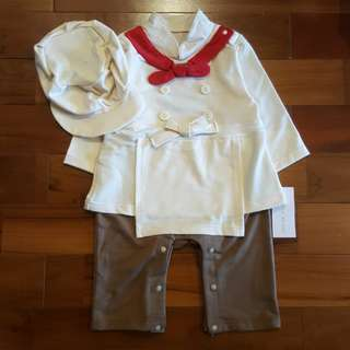 Chef costume set topi