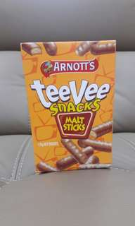 #July100 Teevee snacks malt sticks 175g