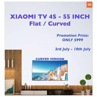 """XIAOMI TV 4S - 55"""" Curved - 4kHD"""