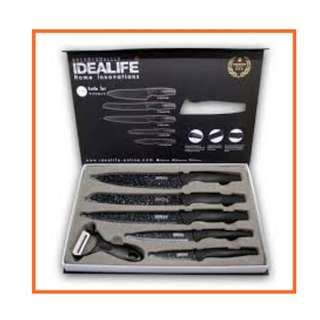 Pisau Set Ceramic Black Il 160 Idealife