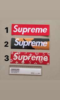 Supreme Logo Waterproof Luggage Laptop Sticker
