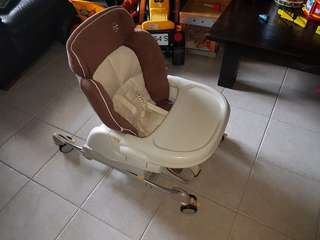 Adjustable High Chair with rolllers
