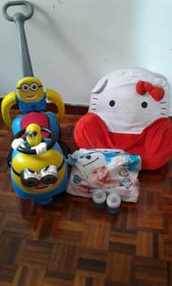 All rm 100 Minion car sofa Avent fedars and pampers