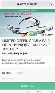 Rudy project promotion
