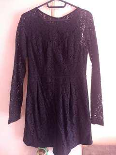 Black Laced Playsuit