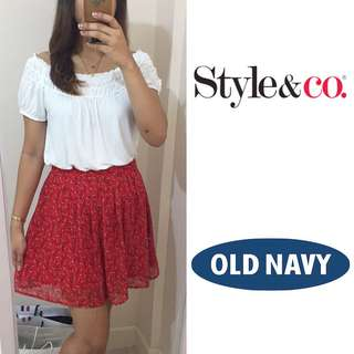 SET: Style&Co Top and Old Navy Skirt