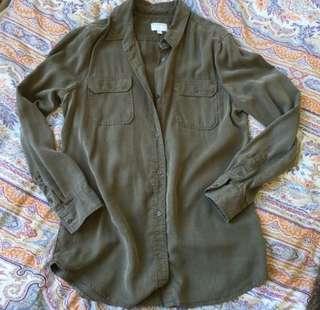 Witchery Khaki Button Up Shirt