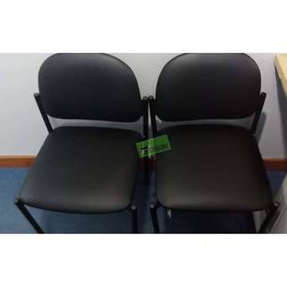 VC-1000 VISITORS CHAIRS BLACK LEATHERETTE--KHOMI