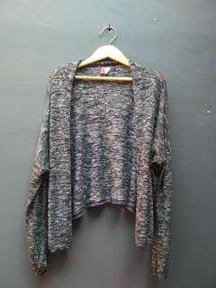 H&M outer rajut dark grey