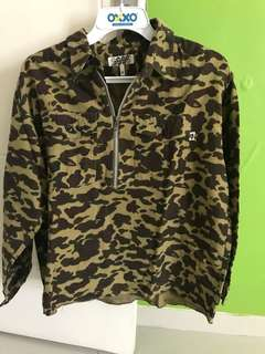 Bathing Ape Halfzip Shirt Camo