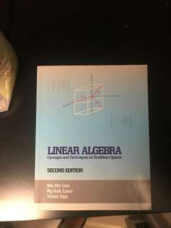 Elementary Linear Algebra MA1101R