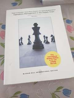 Operations Management in the Supply Chain Sixth Edition