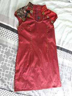 PRELOVED DRESS LURIE MERAH MAROON