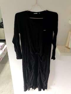 spydebilt dress wanita hitam