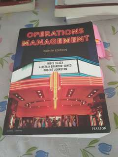 Pearson Operations Management eighth edition