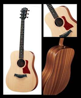 Taylor Big Baby Guitar + tuner, stand, bag, 2x capo, picks, string winder