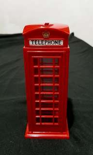 Red London Telephone Booth Piggy Bank