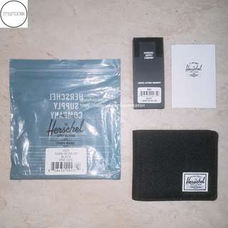 ✧AUTHENTIC✧FREE POSTAGE✧ Herschel Roy Wallet (Black)✧