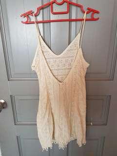BNWT cream lowback lace dress