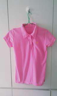 [U.P.S$25] Pink Polo T-shirt