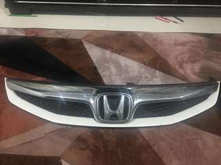 Honda civic FD front bumper grill with H emblem original