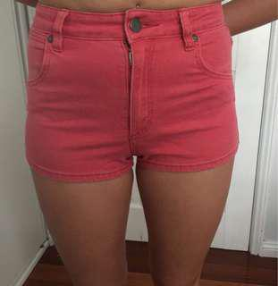 Wrangler red high waisted shorts