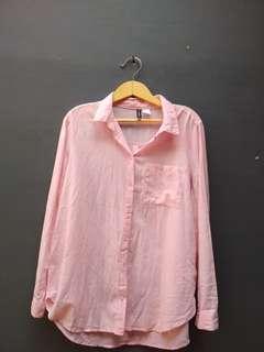 kemeja H&M pink