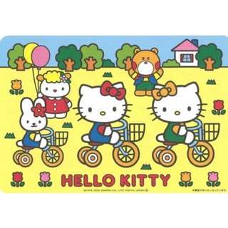 🚚 三麗鷗HELLO KITTY凱蒂貓餐墊 餐桌墊 隔熱墊 防燙墊 防滑墊 4枚入