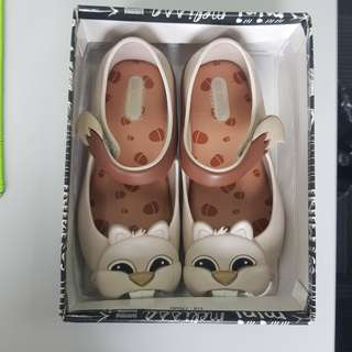 Mini Melissa Chimpmunk s9 size 9 16cm Animal Lovers Beige kids ootd fashion shoes authentic auth minimel orig zaxy nike jelly sandals ultragirl mel