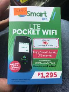Pocket wifi lte smartlocked brand new